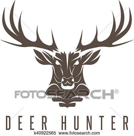 Deer Template | Deer Head Vector Design Template Hunting Illustration Clipart