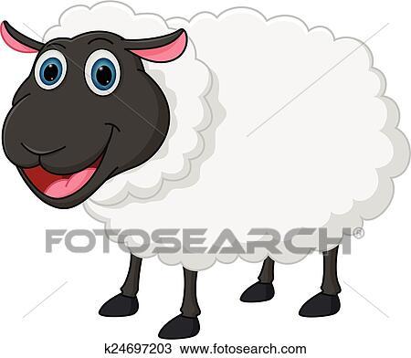 Clipart heureux mouton dessin anim k24697203 - Mouton dessin anime ...