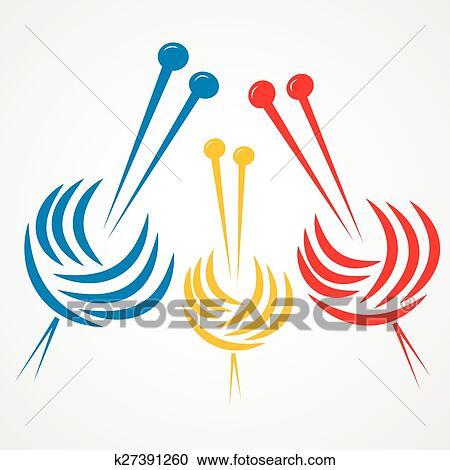 knitting needles clipart k27391260