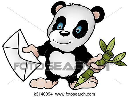 Dessins panda et lettre k3140394 recherche de clip - Dessins de panda ...