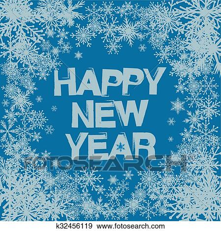 clip art winter background snowflakes and happy new year fotosearch search