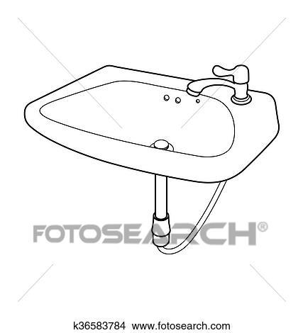 Waschbecken clipart  Clipart - abbildung, waschbecken k36583784 - Suche Clip Art ...