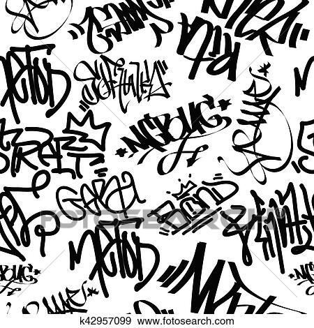 Clipart art graffiti seamless mod le k42957099 recherchez des cliparts des illustrations - Lettre graffiti modele ...