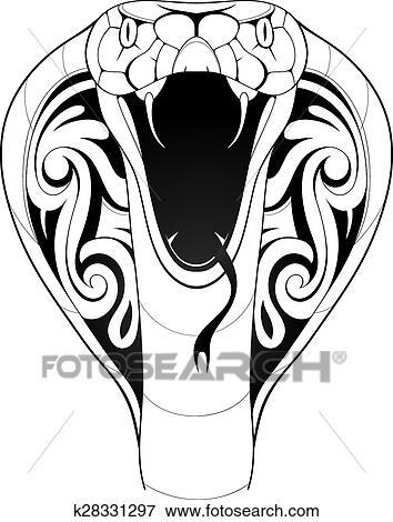 Dessin Cobra clipart - cobra, serpent, tatouage k28331297 - recherchez des