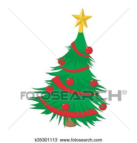 Symbol Weihnachtsbaum.Weihnachtsbaum Karikatur Symbol Zeichnung