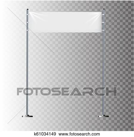 White textile banners with folds  Blank hanging fabric mockup  Graphic  design elements for advertising, web site, flyers, posters, sale  announcement