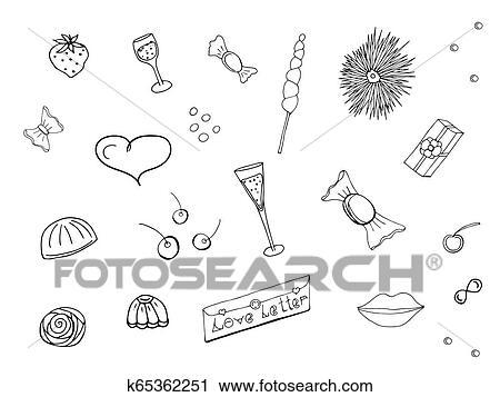 Love icon or Valentine's day sign designed for celebration. Clip Art    k65203696   Fotosearch