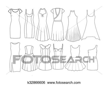 Stock Images Of Fashion Flat Templates Sketches K32866606