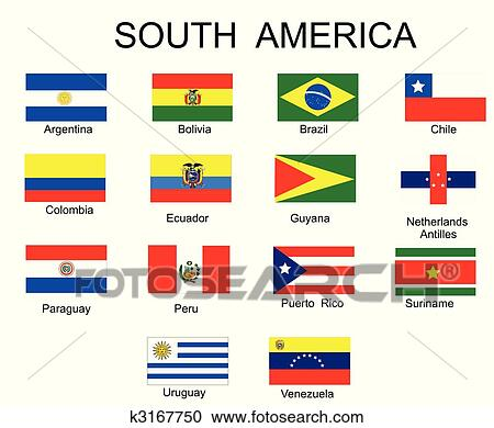 clipart of list of all flags of south america countries Flag Border Clip Art Free US Flag Border Clip Art Free