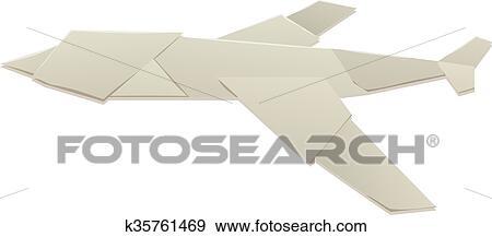 Origami F-15 Eagle Jet Fighter-Flugzeug Auf Weißem Hintergrund ... | 217x450