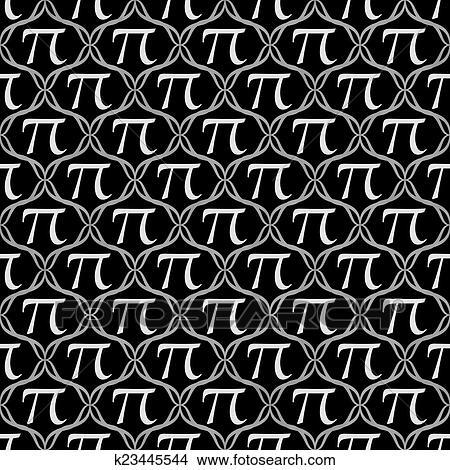 Schwarz weiß, pi, symbol, wiederholung, muster, hintergrund Bild