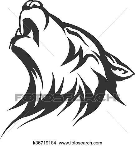 Clipart Tribal Tatouage Loup Conceptions K36719184 Recherchez