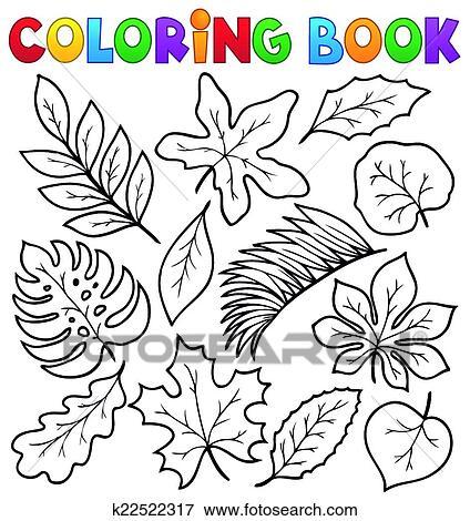 Clip Art Ausmalbilder Blätter Thema 1 K22522317 Suche Clipart