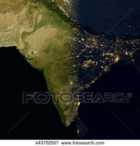 City lights on world map india stock illustration city lights on world map india elements of this image are furnished by nasa gumiabroncs Images