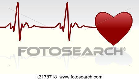 clip art of heartbeat k3178718 search clipart illustration rh fotosearch com heartbeat clip art thank you heart rate clip art free
