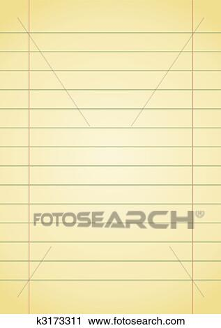 Clipart Of Notebook Paper K3173311 Search Clip Art Illustration