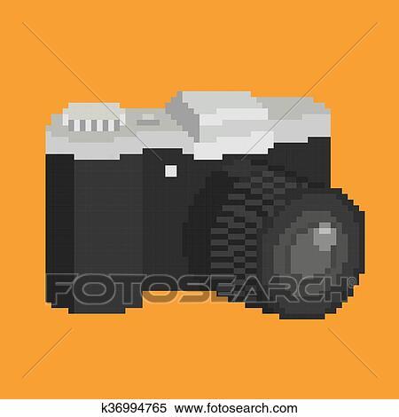 Pixel Art Voiture Clipart