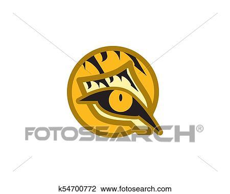 Clip Art Of Tiger Eye Logo K54700772 Search Clipart Illustration