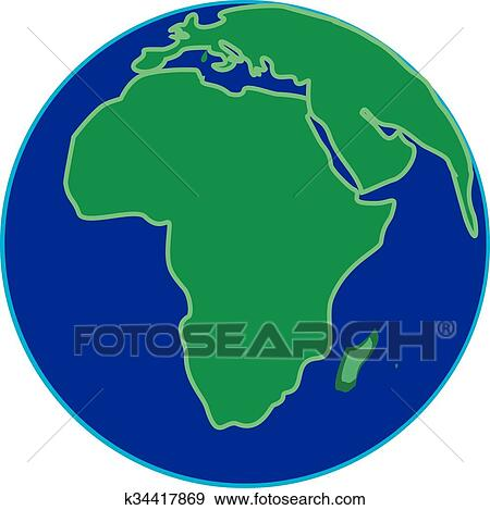 Clip art of africa k34417869 search clipart illustration posters africa gumiabroncs Image collections