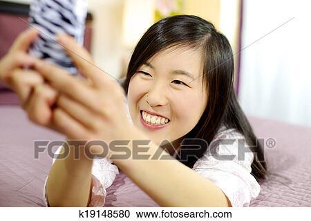 Cute Girl Taking Selfie