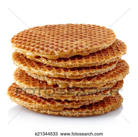 Dutch Waffles Stock Image K21344533 Fotosearch