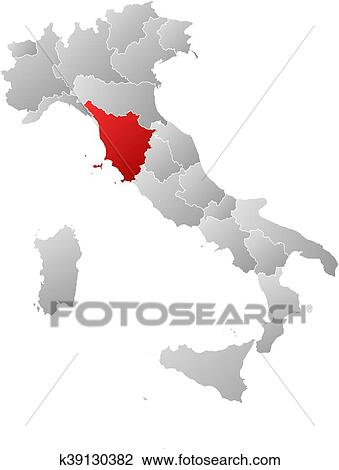 Map - Italy, Tuscany Clipart | k39130382 | Fotosearch