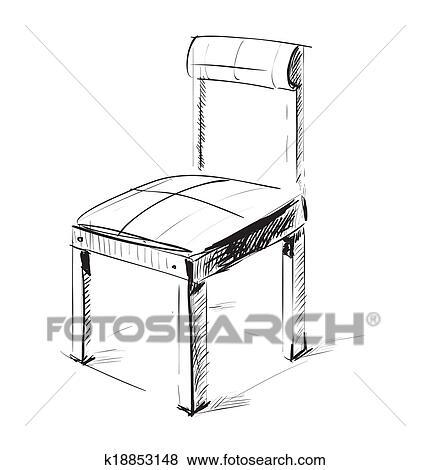 Skizze Stuhl Symbol Clip Art K18853148 Fotosearch