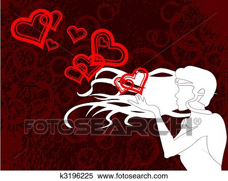 Blowing A Kiss Clipart K3196225 Fotosearch