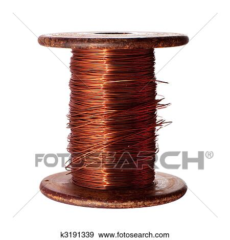 Stock Photograph of Copper wire k3191339 - Search Stock Photography ...
