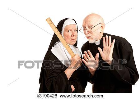 Lustig, pfarrer, und, nonne Stock Foto   k3190428   Fotosearch
