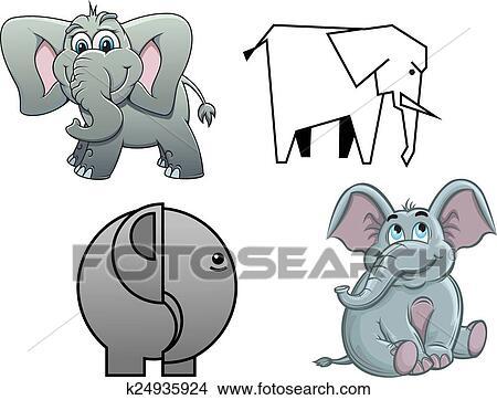 Niedlich Karikatur Baby Elefanten Clipart