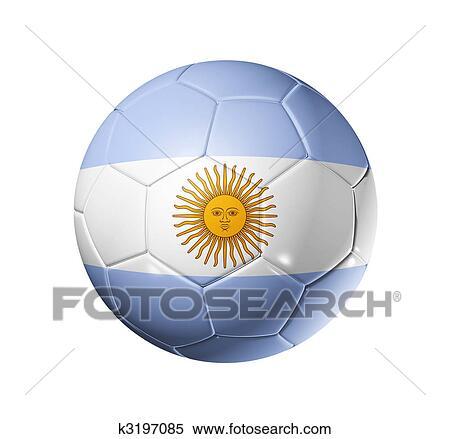 3a2a81a179f Soccer football ball with Argentina flag Stock Illustration k3197085