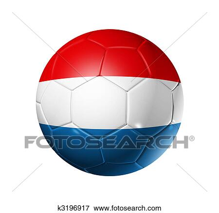 f7dc091d5a6 Stock Illustration of Soccer football ball with Netherlands flag ...