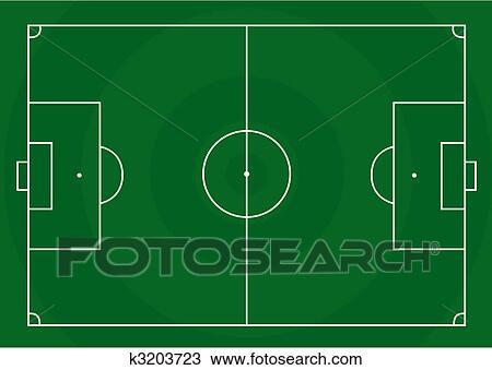 Fussballplatz Clipart