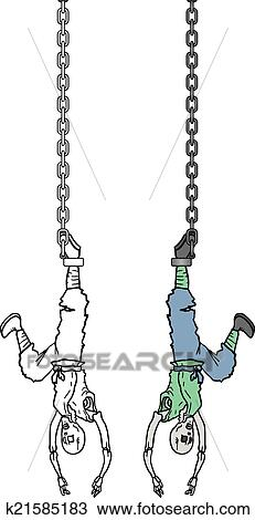 Clipart Of Hanging Man K21585183