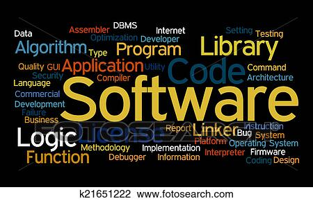 clip art of software word cloud k21651222 search clipart