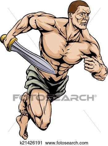 clipart of gladiator warrior k21426191 search clip art rh fotosearch com warrior clipart png ninja warrior clipart