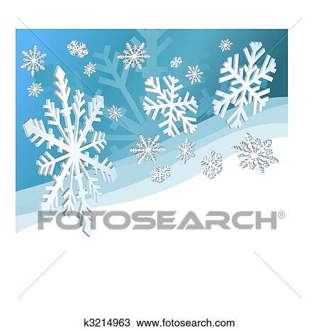 Clipart Schnee Bröckelt K3214963 Suche Clip Art Illustration