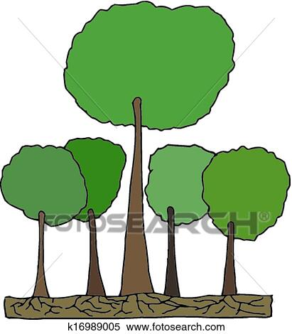 clipart of tall tree in forest vector k16989005 search clip art rh fotosearch com forest clip art free forest clip art black and white