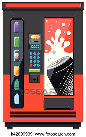 clip art of vending machine with soft drinks k42899939 search rh fotosearch com Vending Machine Clip Art Animation Vending Machine Clip Art Black and White