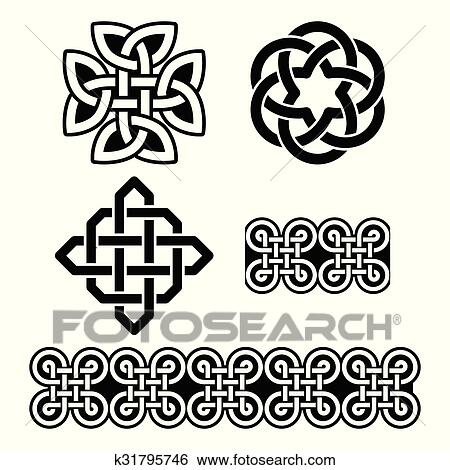 Clip Art Of Celtic Irish Patterns And Knots K60 Search Classy Irish Patterns