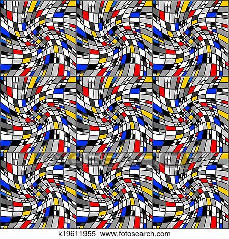 clipart desenho seamless coloridos mosaico padrão k19611955