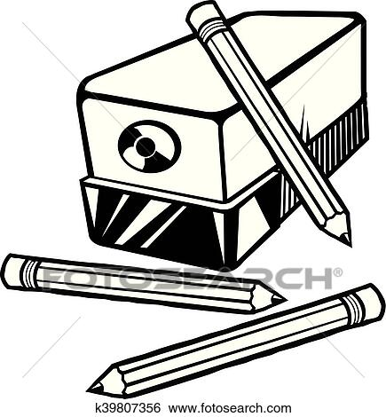 Clip Art Of Pencil Sharpener K39807356