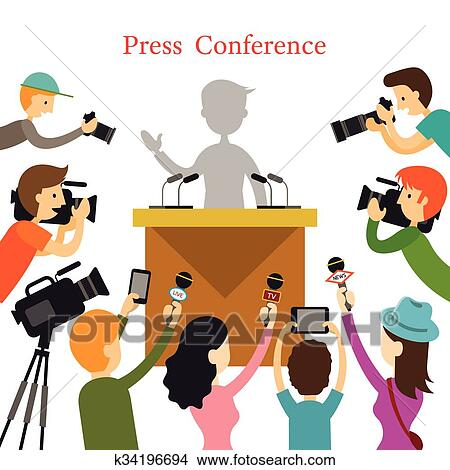 clipart of press conference journalist with camera camcorder and rh fotosearch com journalist animated clipart Lawyer Clip Art