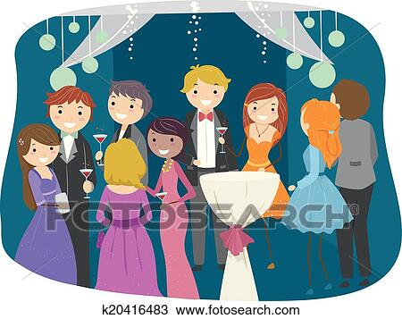 clipart of prom night k20416483 search clip art illustration rh fotosearch com prom clipart prom clipart