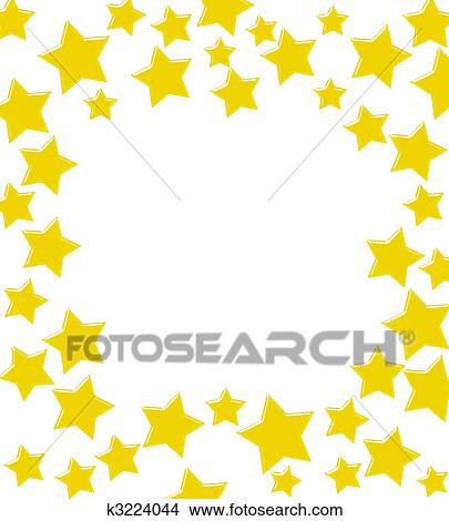 drawings of winning gold star border k3224044 search clip art rh fotosearch com