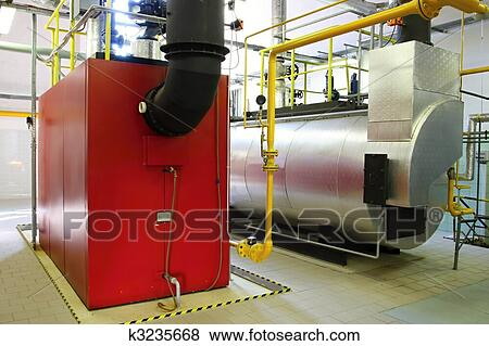 Pictures of Gas steam boiler k3235668 - Search Stock Photos, Images ...