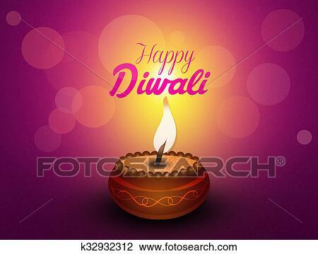 Clip art of greeting postcard of diwali k32932312 search clipart illustration of greeting postcard of diwali m4hsunfo