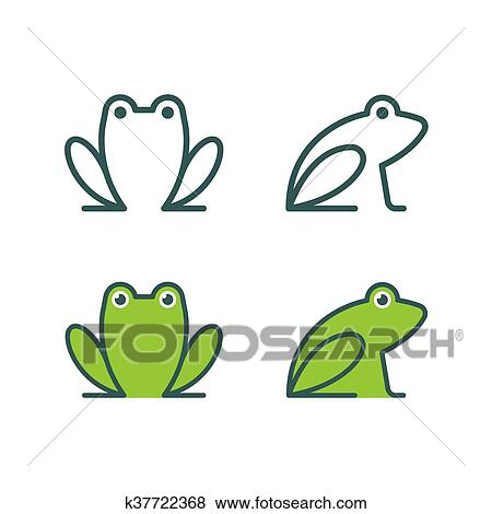 clipart grenouille ic ne logo k37722368 recherchez. Black Bedroom Furniture Sets. Home Design Ideas