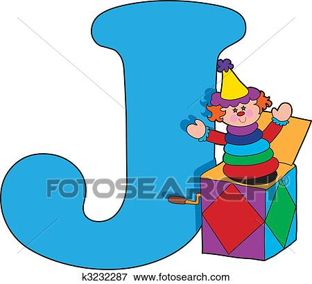 clip art of letter j with a jack in a box k3232287 search clipart rh fotosearch com letter j clipart black and white decorative letter j clipart